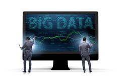 The big data concept with data mining analyst. Big data concept with data mining analyst stock image