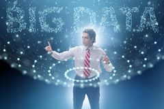The big data concept with data mining analyst. Big data concept with data mining analyst royalty free stock photo