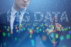 The big data concept with data mining analyst. Big data concept with data mining analyst stock photo