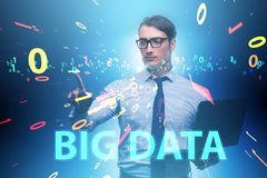 The big data concept with data mining analyst. Big data concept with data mining analyst stock images