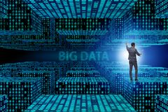 The big data concept with data mining analyst. Big data concept with data mining analyst royalty free stock photos