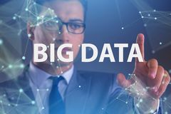 The big data concept with data mining analyst. Big data concept with data mining analyst stock photography