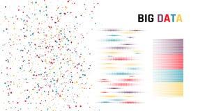 Big data. concept of ordering data. Vector illustration.  Stock Photo