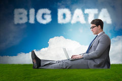 The big data concept in it technology Royalty Free Stock Images