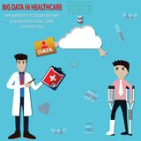 Big data concept,Used big data to keep data from hospitals - vec Royalty Free Stock Images