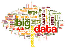 Big data concept in word cloud Stock Images