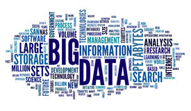 Big data concept in word cloud Stock Image