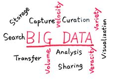 Big data concept Royalty Free Stock Photo