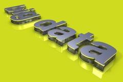 Big Data 3D Title Royalty Free Stock Photos