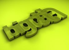 Big Data 3D Title Royalty Free Stock Photo