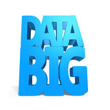 Big data 3D word with blue color. On white Stock Photos