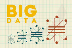 Big Data, Data Science and communication concept. Royalty Free Stock Photography