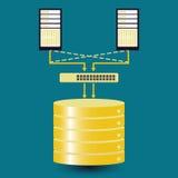 Big data database cluster Royalty Free Stock Images