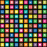 100 big data, database icons set Royalty Free Stock Photo