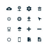 Big data, database icons set Royalty Free Stock Image