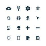 Big data, database icons set Royalty Free Stock Image