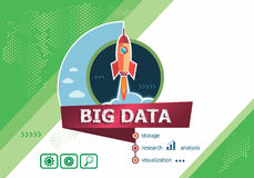 Big Data design concepts for business analysis, planning, consul Royalty Free Stock Photography
