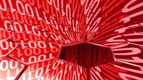 Big data digital red sinkhole absorbing data Stock Photo