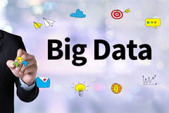 Big Data on Domain Web Page and  SEO Royalty Free Stock Image