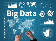 Big Data on Domain Web Page and  SEO Stock Images