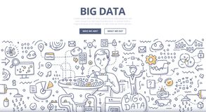 Free Big Data Doodle Concept Royalty Free Stock Images - 76645189