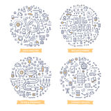 Big Data Doodle Illustrations Royalty Free Stock Photo