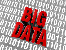 Big Data Emerges From Computer Code Stock Image