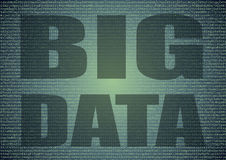 Big data extraction over a background of letters and numbers Royalty Free Stock Images