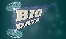 Big data. Futuristic colored abstract circles and the words big data vector illustration