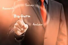 Big Data. Gathering Virtual Screen Concept Stock Photos