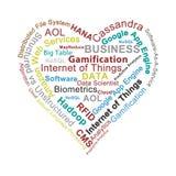 Big data heart Stock Photo