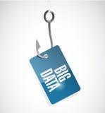 Big data hook sign concept illustration Stock Image