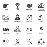 Big Data icon set, Business IT Strategic planning Stock Photos