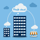 Big Data icon set, Cloud computing concept. Flat design Stock Photography