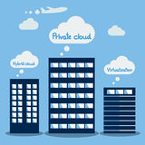 Big Data icon set, Cloud computing concept. Flat design Royalty Free Stock Photography