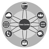 Big Data icon set, Data center and Centralized. Concept. vector icons set Royalty Free Stock Photography