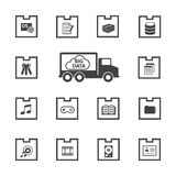 Big Data icon set. Data package Stock Image