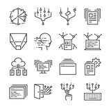 Big data icon set. Included the icons as data, cloud, transfer, filter, analysis, digital and more. Line icon vector: Big data icon set. Included the icons as Stock Photo