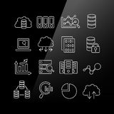 Big Data icon set. Linear Series Stock Photography