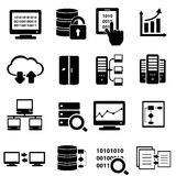 Big data icon set Stock Image
