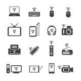 Big Data icon set, Wireless technology Royalty Free Stock Photos