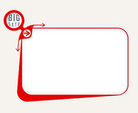 Big data icon. Vector red box to fill your text and big data icon Royalty Free Stock Photography