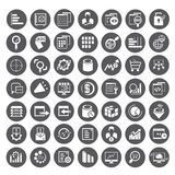 Big data icons, data management buttons Royalty Free Stock Images