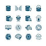 Big data icons || MICRO series royalty free stock images
