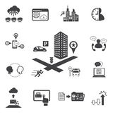Big Data icons set, Business and technology Stock Photos