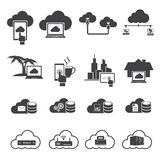 Big data icons set, Cloud computing. Royalty Free Stock Photography