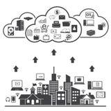 Big data icons set, Cloud computing. Big data icons set, Cloud computing concept Stock Photography