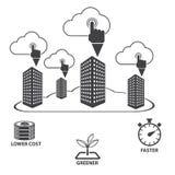 Big data icons set, Cloud computing. Royalty Free Stock Photos