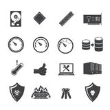 Big data icons set, Computer device and hardware Royalty Free Stock Photography
