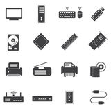 Big data icons set, Computer device and hardware Stock Images